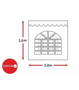 Prelată laterală cu fereastră arcuita - 2x3 m
