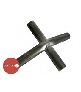 1x 3-way connector 140°