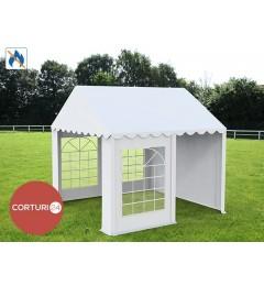 4x4 m Cort Evenimente PROFESSIONAL, PVC alb