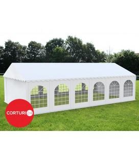 4x12 m Cort Evenimente PROFESSIONAL, PVC alb