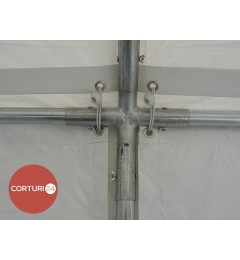 3x10 m Cort Evenimente PROFESSIONAL, PVC ignifug alb