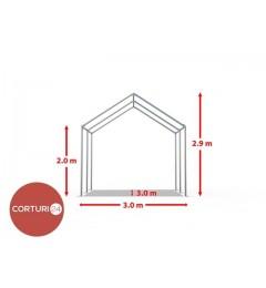 Cort evenimente 3x3 m, PVC ignifug Economy