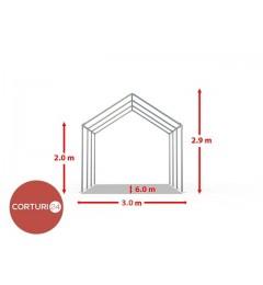 Cort evenimente 3x6m, PVC Economy