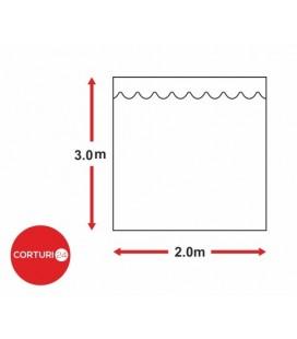 Prelată laterală fără fereastră,  2x3 m, PVC 500 gr/m2