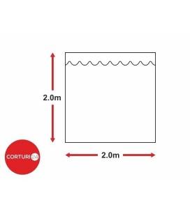 Prelată laterală fără fereastră,  2x 2m, PVC 500 gr/m2