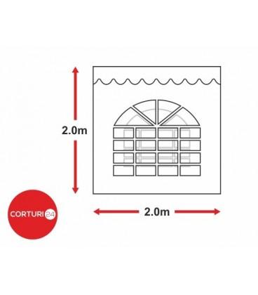 Prelată laterală cu fereastră arcuita - 2x 2m