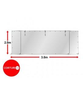 3x2 m Perete frontal - PVC 500 g/m², alb