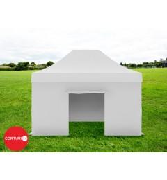 3x4,5 m Pavilion Pliabil Professional Aluminiu 50 mm, fara ferestre, PVC 620 gr /m², alb, ignifug