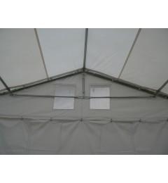 3x3 m Cort Evenimente PROFESSIONAL, PVC ignifug alb