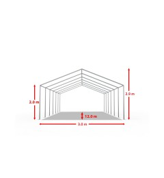 Cort evenimente 3x12 m, PVC ignifug Economy