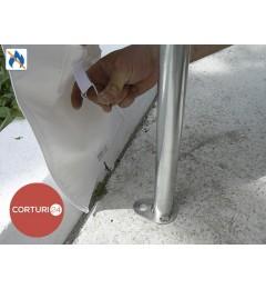 Cort evenimente 4x10 m, PVC ignifug Economy