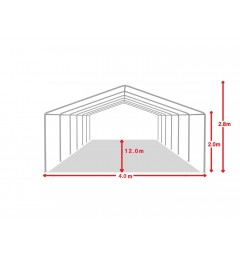Cort evenimente 4x12 m, PVC ignifug Economy