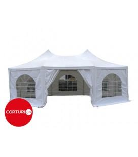 8,8x6,4m Pagoda 350 g/m² PVC, alb