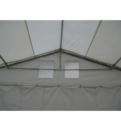 5x8 m Cort Evenimente PROFESSIONAL, PVC ignifug alb